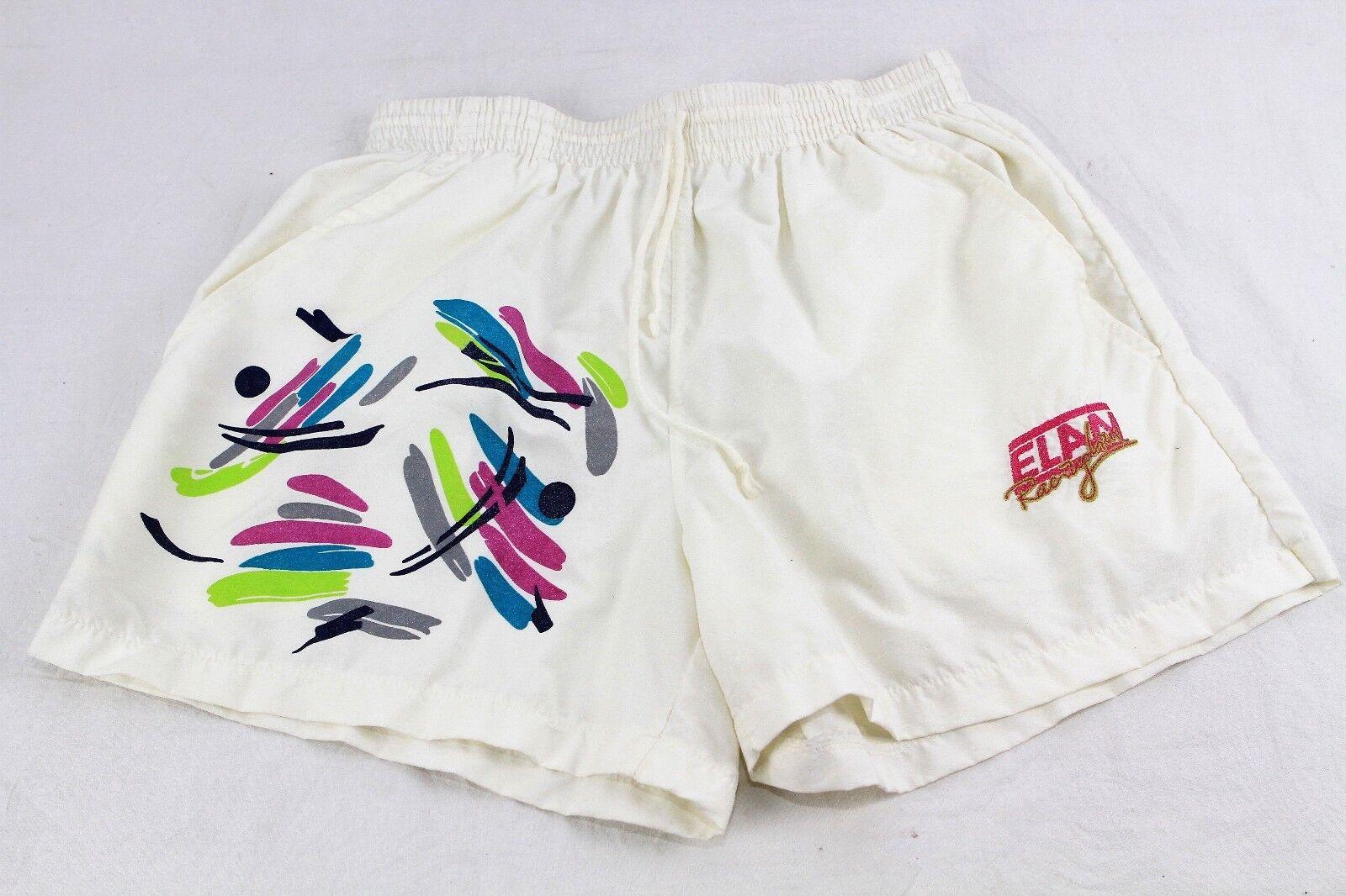 Vintage 1980s Jahre Elan Sport Shorts weiß weiß weiß größe EU 48 UK 14 333 R | Attraktiv Und Langlebig  | Verkauf  | Gemäßigten Kosten  | Günstige Preise  | Großhandel  c4df80