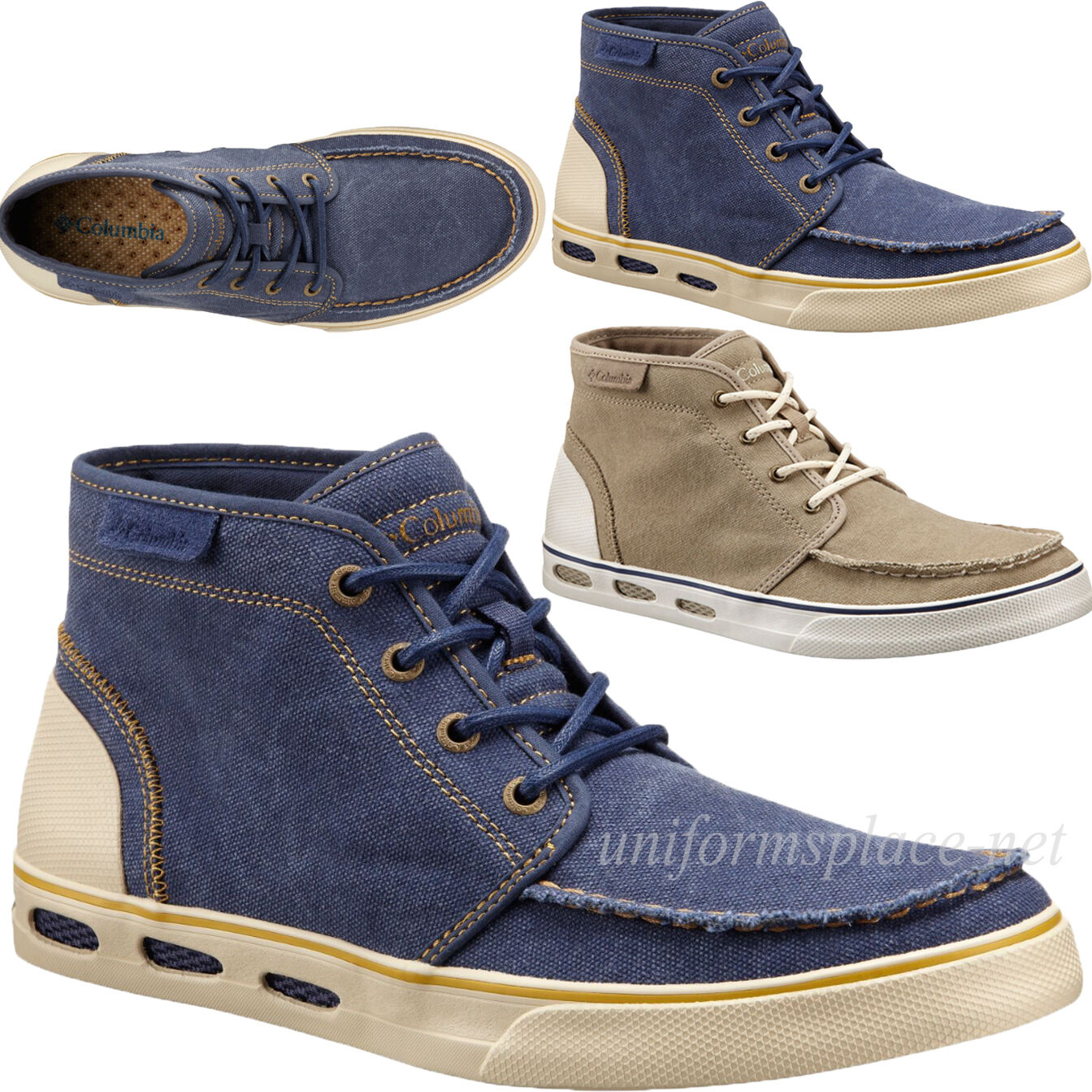 Columbia  Uomo Vulc N Vent Chukka Lace up Canvas Shoes Colors