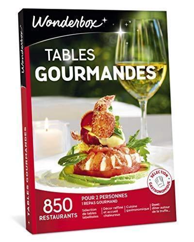 Wonderbox - Coffret cadeau TABLES GOURMANDES – 850 adresses, Resto en amoureux