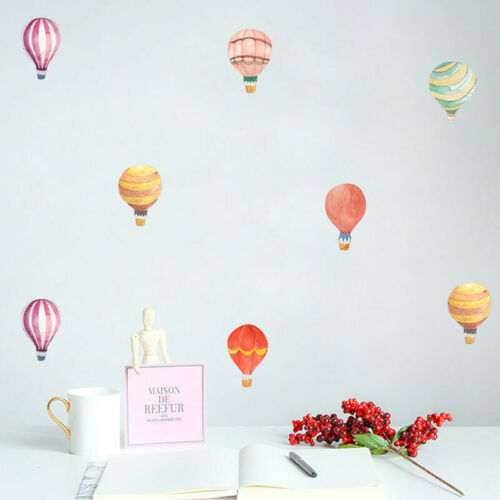 Hot Air Balloon Watercolor Wall Sticker Color Circle Wall Decal For Kids RooBDA