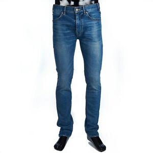 CELINE 640$ Skinny Jeans In Blue Union Wash Denim
