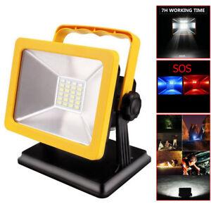 15W-Portable-Rechargeable-Emergency-Work-Light-Lamp-Camping-Spotlights-EU-Plug