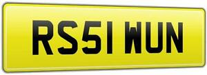 NEAT-CAR-REG-NUMBER-PLATE-RS51-WUN-FEES-PAID-WINNER-RS5-RS-COUPE-FSI-QUATTRO