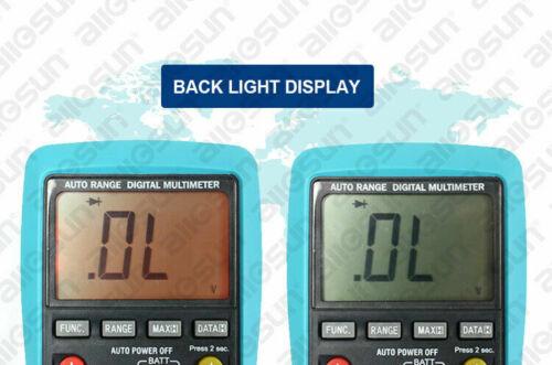 LCD Auto Range Digital Multimeter Buzz AC DC Volt Amp OHM Temp Tester US Ship