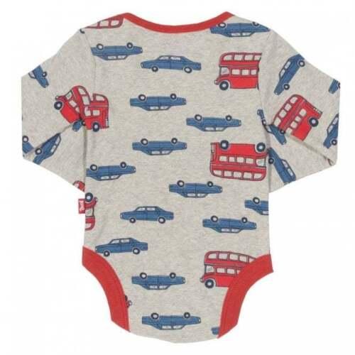 Kite Clothing Organic Cotton Baby Boys Bodysuit 2 Pack Beep Beep Bus Print