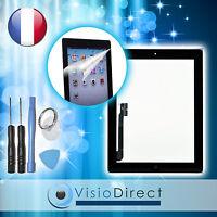 Vitre Ecran Tactile Pour Ipad 3 Noir, Bouton Et Adhésif + Film Protecteur +outil