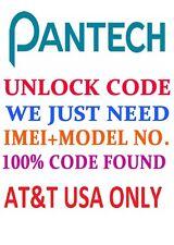 ATT PANTECH Unlock Code Service CLEAN IMEI AT&T