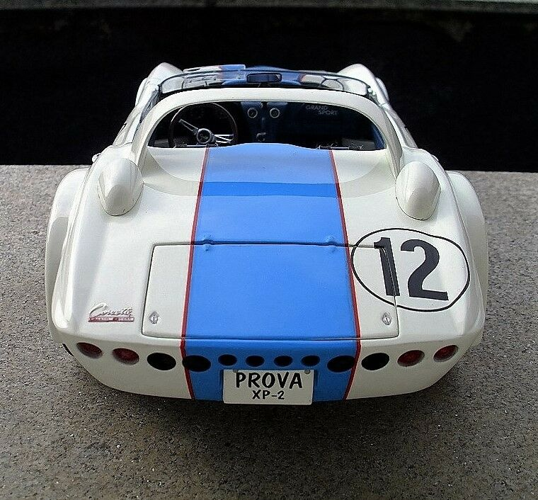 Vette 1967 Chevy Corvette Sport Race Car 1 Vintage 24 Carousel bianca 18 Metal 12