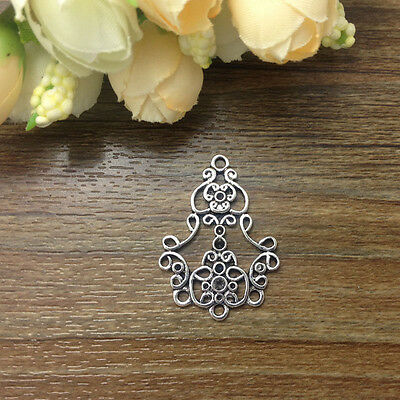 New Tibetan Silver Charms 4pcs Earring Connectors 25x34mm Jewelry Making E*R45