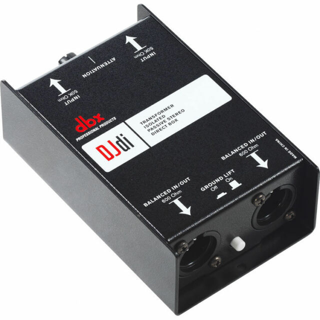New DBX DJDI 2-Channel Stereo Transformer Isolated Passive DI Box Free USA Ship!