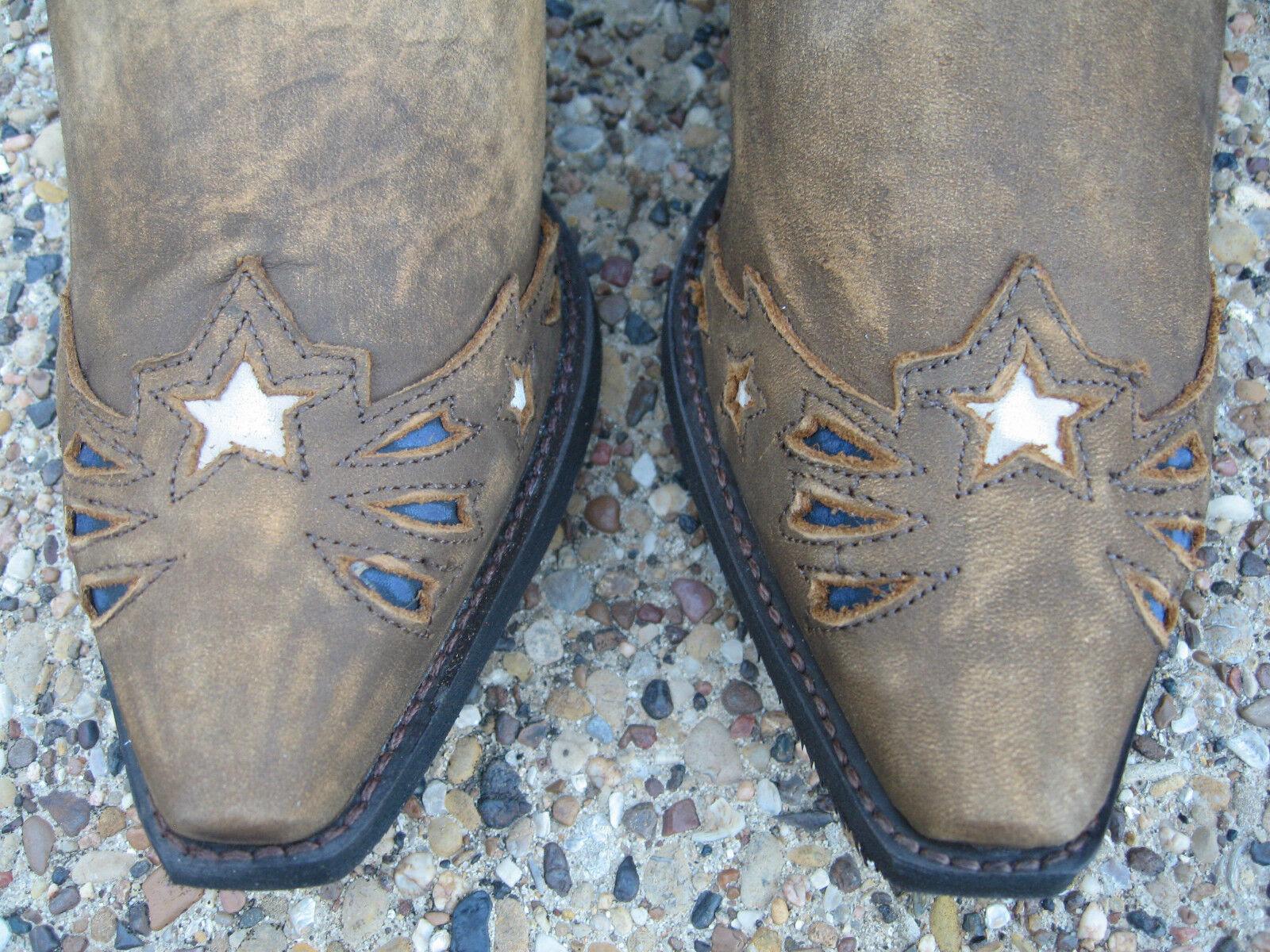Nuevas señoras Laredo Keyes Stripes Stars And Stripes Keyes Patriótico occidental de cuero Botas De Vaquero 2915b8