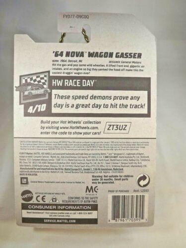 2019 Hot Wheels #198 HW Race Day /'64 NOVA WAGON GASSER Jerry Rigged Gray Variant