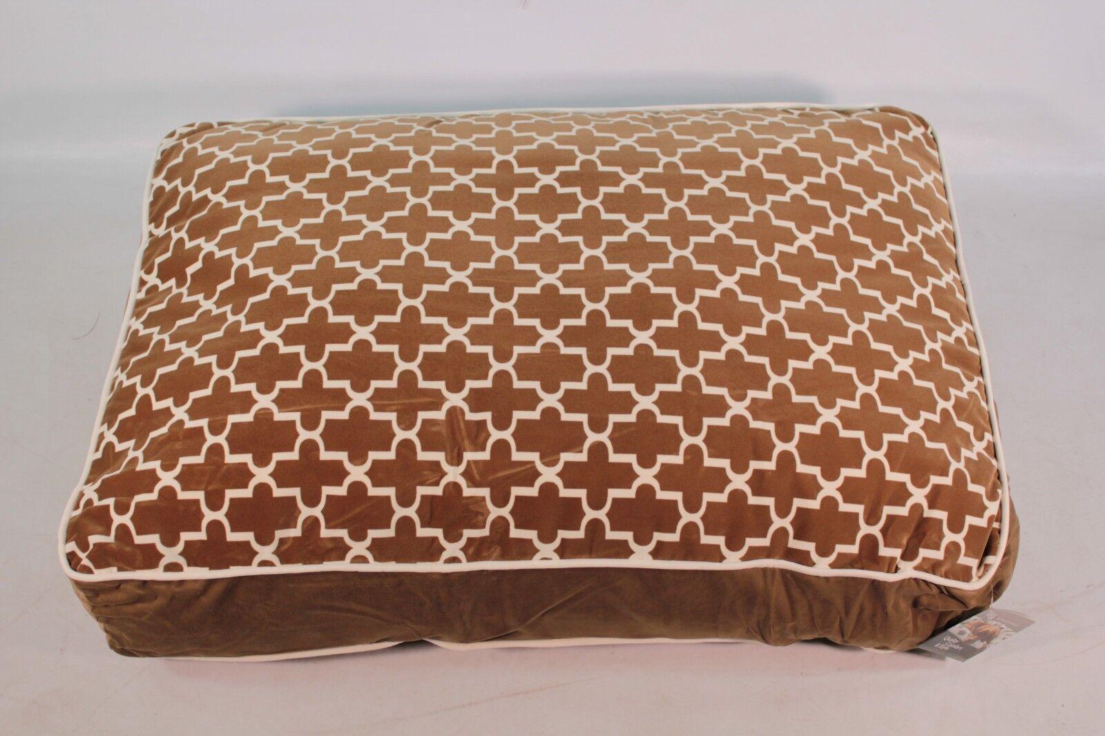 Bowsers Pet Products Super Loft Rectangle Dog Bed Large Cedar Lattice