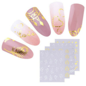 30-Sheets-Gold-Silver-Water-Decals-Stickers-Manicure-Nail-Art-Transfer-Sticker