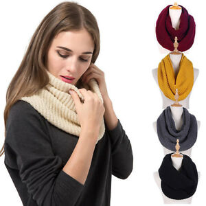 Men-amp-Women-Knit-Infinity-Loop-Scarf-Warm-Thick-Cowl-Wrap-Circle-Winter-Scarf-US