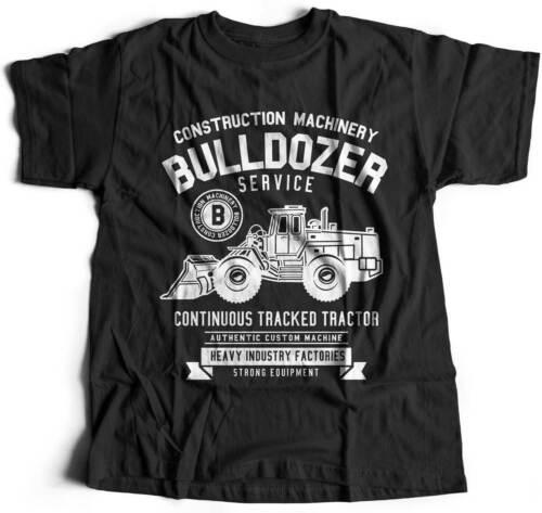 Bulldozer Vehicles T-Shirt Crawler Blade Sand Soil Digger Mine Tractor Heav B507