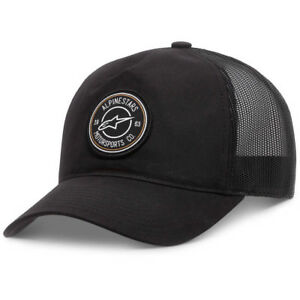 e27968e5016 Details about Alpinestars NEW Mx Bullseye Black Adult Mens OSFM Adjustable  Trucker Cap Hat