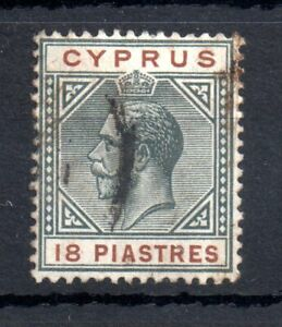 Cyprus-KGV-1912-15-18pi-good-used-WMK-CA-83-WS13475