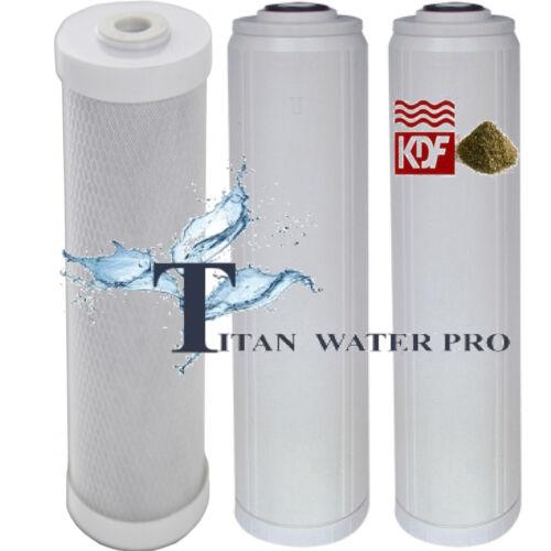 Carbon Block//Flouride Activated Alumina//KDF Multi media Water Filters Set 3 PC