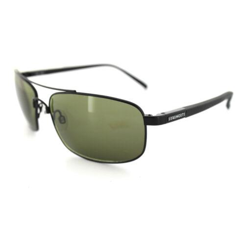Serengeti Sunglasses Palladio 7567 Satin Black Grey Green 555NM Polarized