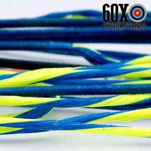 "60X Custom Strings 61/"" Fast Flight Blue Recurve Bowstrings Bow String"
