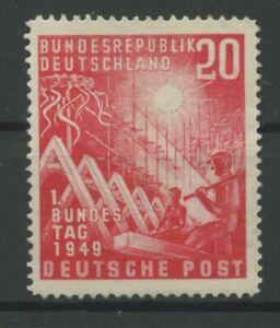 Germany-BRD-Federal-1949-Mi-112-VII-Printing-Error-Pf-Mint-MNH