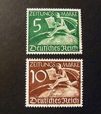 "GERMANIA ,GERMANY1939 REICH "" Francobolli per giornali"" 2V. Cpl SET USED"