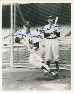 Mickey-Mantle-Bill-Dickey-Autographed-Signed-8x10-Photo-HOF-Yankees-REPRINT