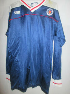 Scotland-Schools-FA-Match-Worn-Home-1985-Football-Shirt-with-COA-9681