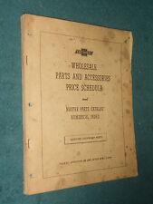 1949 Amp Prior Chevrolet Car Truck Parts Price List Original Parts Price Catalog