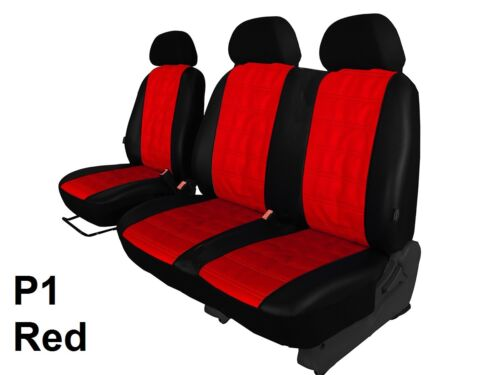 VW CRAFTER VAN 2006-2016 ECO LEATHER SEAT COVERS EMBOSSED MADE TO MEASURE