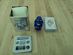 Acheter Pas Cher Artforum Blue Messenger Robot Rbo8bl Tank Message Caché En Céramique-afficher Le Titre D'origine Chaud Et Coupe-Vent