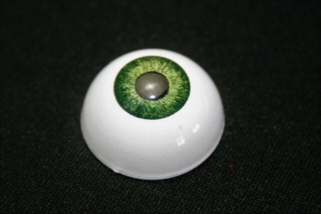 Eyes for reborn acrylics 22 mm 1 Pair Black No Pupil bjd doll dollfie ooak craft