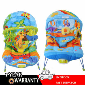 Baby-Rocker-Bouncer-Reclining-Vibrating-Chair-Soothing-Music-Vibration-Toys-UK
