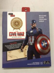 Details About New Captain America Shield 3d Wood Model The Bam Box 0317 Sealed