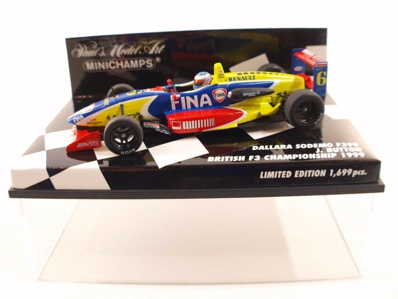 Minichamps Dallara Sodemo F399 Button British F3 Championship 1999 neuf 1 43 MIB