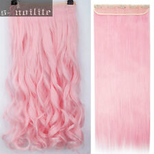 Colorful Synthetic Straight Curl Wave Half Full Head Clip in Hair Extensions HG0