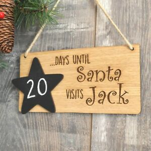 Days Till Christmas Chalkboard.Details About Days Until Christmas Sleeps Till Santa Visits Chalkboard Countdown Plaque Sign