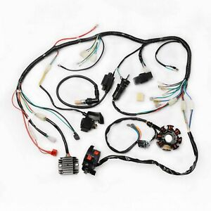details about wire harness electric wiring coil cdi for 150 200 250cc atv quad go kart utv 3 Wire Harness