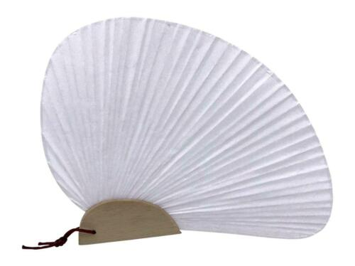 Uchiwa Palm Held Hand Fan Pack of 4 Fans Wedding Favor or DIY Craft Project