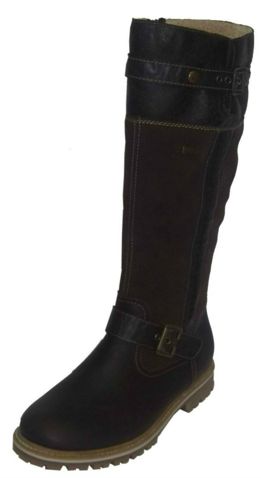 Ladies Remonte Knee Length Boots D5471-25 Brown Warm Lined  Good Tread