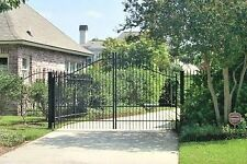 Custom Built Dual Swing Driveway Gate 11ft wide. Fence, Handrails, Steel Iron
