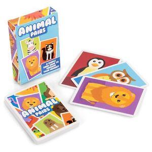 Detalles De Animal Pares 23081 Divertido De Colores Sencillo Juego Cartas Para Ninos