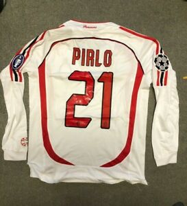 2006-07 Andrea Pirlo AC Milan long sleeve UCL final jersey ...