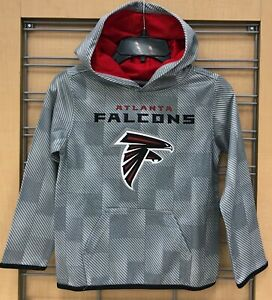New $45 Atlanta Falcons Kids Hoodie NFL Boy's Hooded Sweatshirt Gray