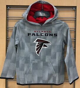27c75920 Details about New $45 Atlanta Falcons Kids Hoodie NFL Boy's Hooded  Sweatshirt Gray Size M 5/6