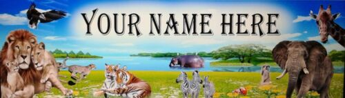 FREE ZOO ART POSTER //BANNER PRINT PICTURE PAINTING  PERSONALIZED W// YOUR NAME