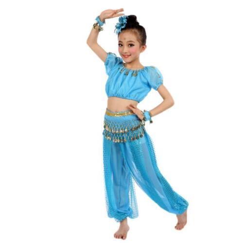 Handmade Kids Girl Egypt Dance Costumes Belly Dancing Clothes Halloween Dresses