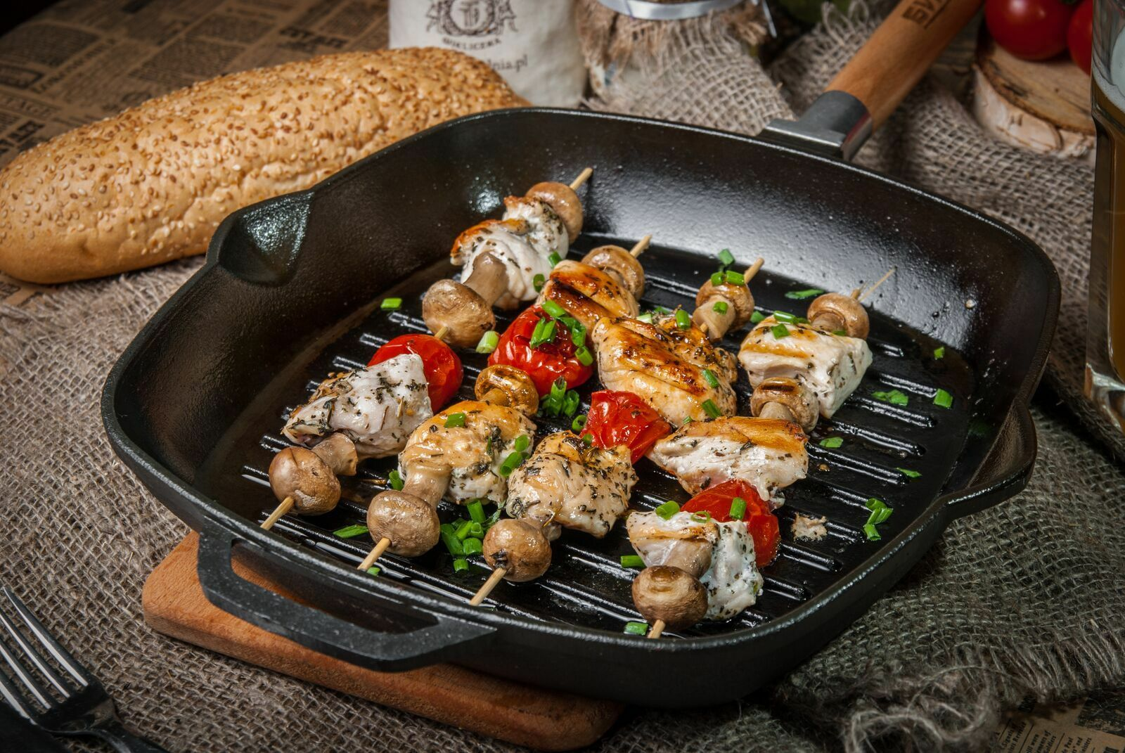 Cast Iron Iron Iron Square Grill Skillet Pan 11  Glass Lid Removable Handle Made Ukraine 37b4bd