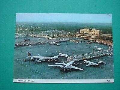 Ak Airport London-gatwick 1978 Mit Nachträgl. Entwerteten Briefmarken